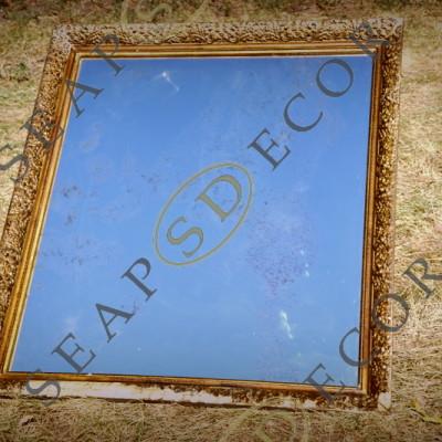 Состаренное зеркало SEAPS в старинной деревянной раме EXT.2010