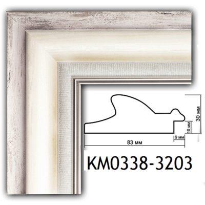 KM0338-3203 БАГЕТ ПЛАСТИК ШИР.8,3 СМ 2,9 М