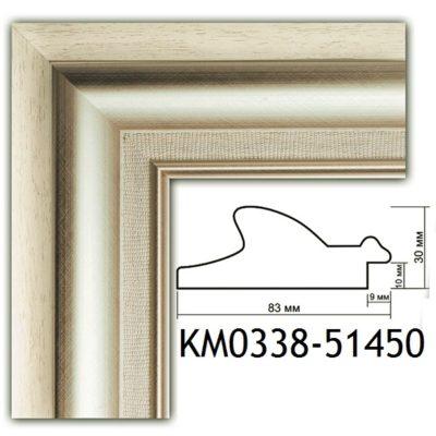 KM0338-51450 БАГЕТ ПЛАСТИК ШИР.8,3 СМ 2,9 М
