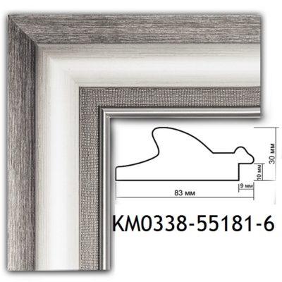 KM0338-55181-6 БАГЕТ ПЛАСТИК ШИР.8,3 СМ 2,9 М