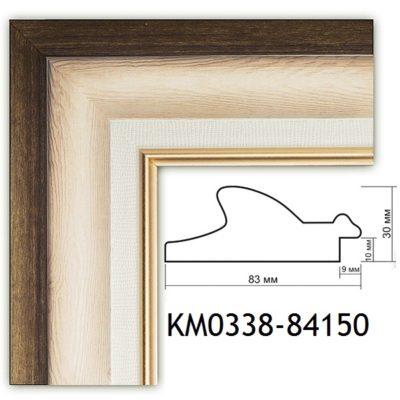 KM0338-84150 БАГЕТ ПЛАСТИК ШИР.8,3 СМ 2,9 М