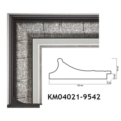KM04021-9542 БАГЕТ ПЛАСТИК ШИР.12 СМ 2,9 М
