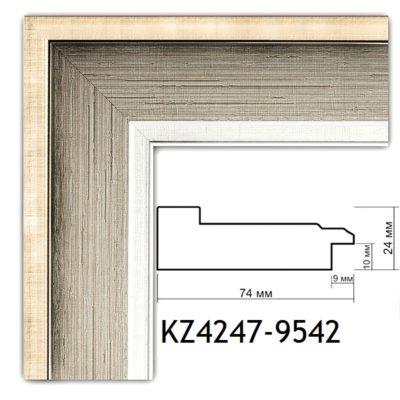 KM4247-9542 БАГЕТ ПЛАСТИК ШИР.7,4 СМ 2,9 М
