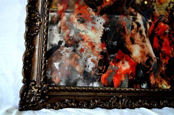 Состаренные картины на зеркале KPR3