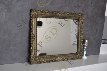 Зеркало чистое в гипсовой раме. R1, R2. 830х1107 мм