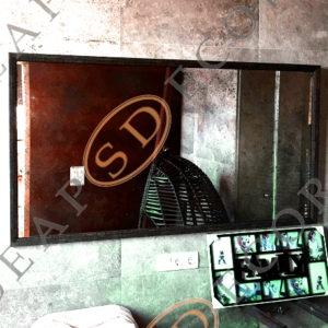 Состаренное зеркало в багетной раме FTT. 1800×750. BAG. LOFT #5