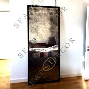 Состаренное зеркало в багетной раме FTT. 210×900. BAG. LOFT #2