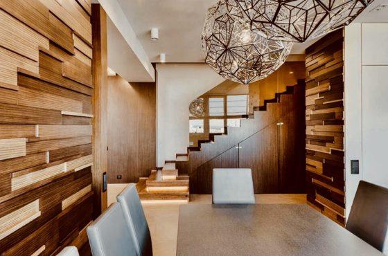 Amber wood apartment. Объект со стёклами от SEAPS номинирован на Интерьер года