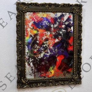 СОСТАРЕННАЯ КАРТИНА R2 830X1107 YELLOW RED BLUE №73
