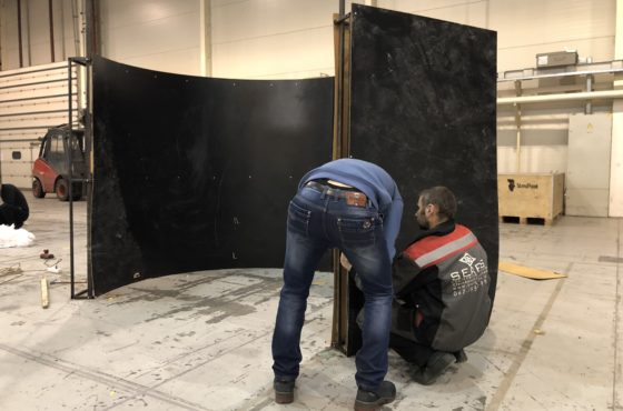 Подготовка стенда SEAPS к выставке InterBuildExpo 2018