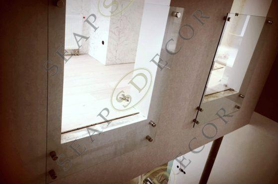 Ограждение из стекла балконов и лестниц в доме на Конче-Заспе