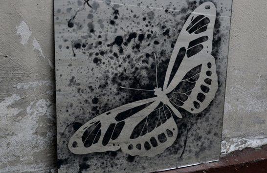 Состаренные картины 600х600 мм с состаренным рисунком в структуре зеркале