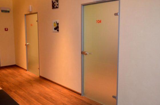 Интерьерные двери и цельностеклянные перегородки в клинике Ilaya Family