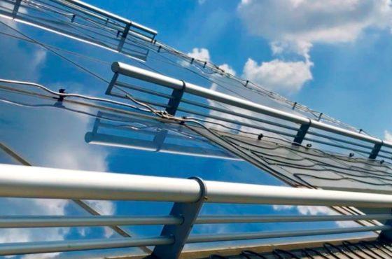 Стеклянный фасад. Стеклянная купольная крыша Park Inn Radisson