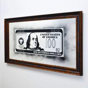100$ DOLLARS GREEN-GREEN BENJAMIN FRANKLIN DOL.X9.1001. 1344X744 ММ #92