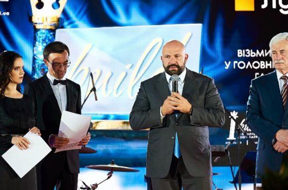 Поздравили Льва Парцхаладзе с юбилеем картиной ANTHEM OF UKRAINE