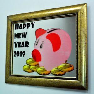КАРТИНА-КОПИЛКА X5. PIG HAPPY NEW YEAR 2019. 380Х480. №19