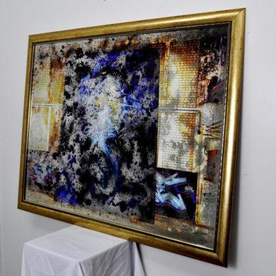 СОСТАРЕННАЯ КАРТИНА X17. BLUE PORTAL. №702. 1130×850