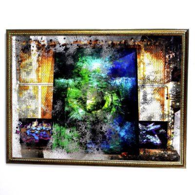 СОСТАРЕННАЯ КАРТИНА X17 GREEN PORTAL WALL A №705
