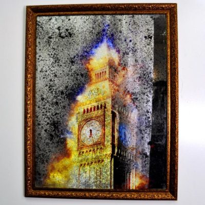 СОСТАРЕННАЯ КАРТИНА X8 LONDON IN GOLD №528