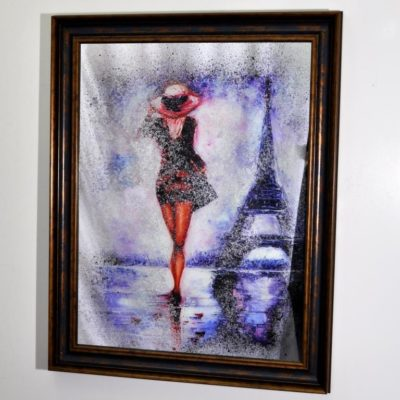 СОСТАРЕННАЯ КАРТИНА X8. MADAM IN PARIS №574