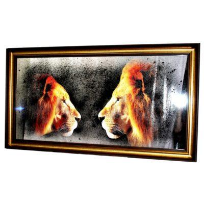 КАРТИНЫ ЗА ЗЕРКАЛОМ X9. PRIDE. 2 LIONS. №3007