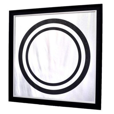 X10 GLITTER CIRCLE BLACK. БЛЕСТЯЩЕЕ ЗЕРКАЛО №3307