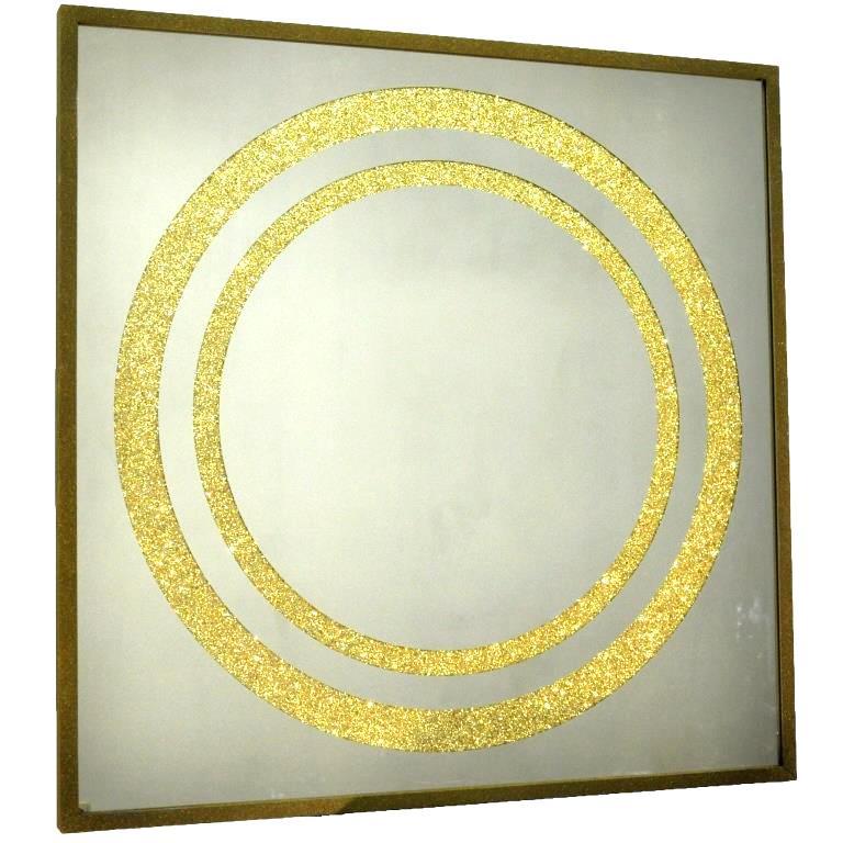 ZERROFIXX GLITTER CIRCLE GOLD. X10.  №3309