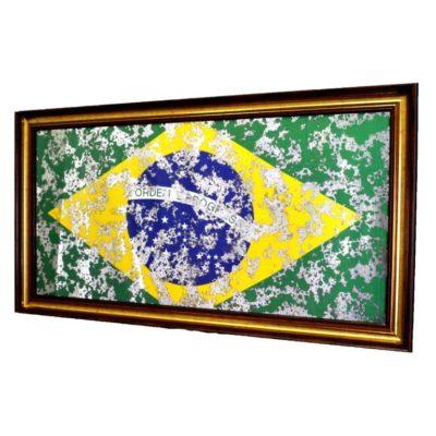 ФЛАГ БРАЗИЛИИ FLAG BRAZIL В РАМЕ ПОД ЗЕРКАЛОМ. № 4010