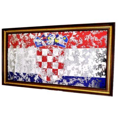 ФЛАГ ХОРВАТИИ CROATIAN FLAG В РАМЕ ПОД ЗЕРКАЛОМ. № 4007