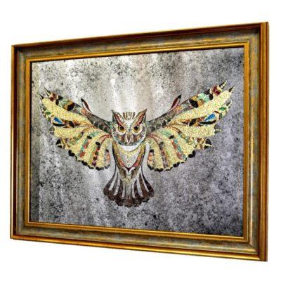 КАРТИНА PREMIUM CRYSTAL OWL. КРИСТАЛЬНАЯ СОВА №3316
