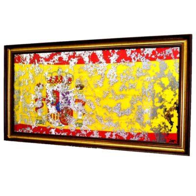 ФЛАГ ИСПАНИИ SPANISH FLAG В РАМЕ ПОД ЗЕРКАЛОМ. № 4002