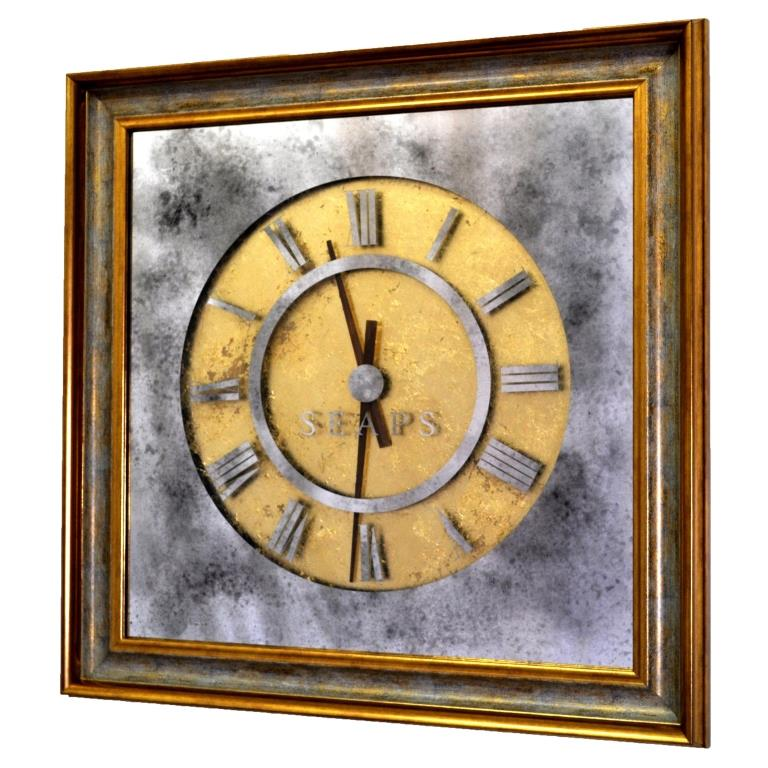 ЗОЛОТЫЕ ЧАСЫ X7 PLATINUM TIME. WALL CLOCK №3321