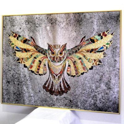 КАРТИНА PREMIUM CRYSTAL OWL. КРИСТАЛЬНАЯ СОВА №3316A