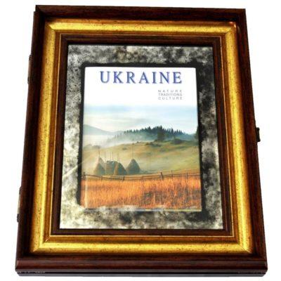 КНИГА ПОДАРОК В РАМЕ UKRAINE. УКРАИНА X5 №3358