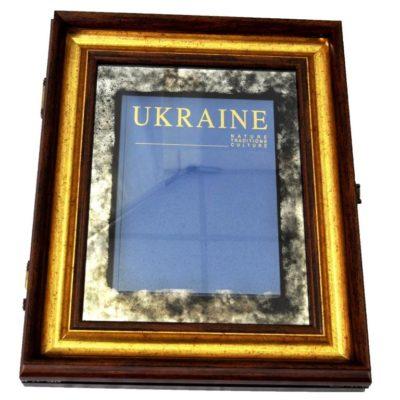 КНИГА ПОДАРОК В РАМЕ UKRAINE. УКРАИНА X5 №3359
