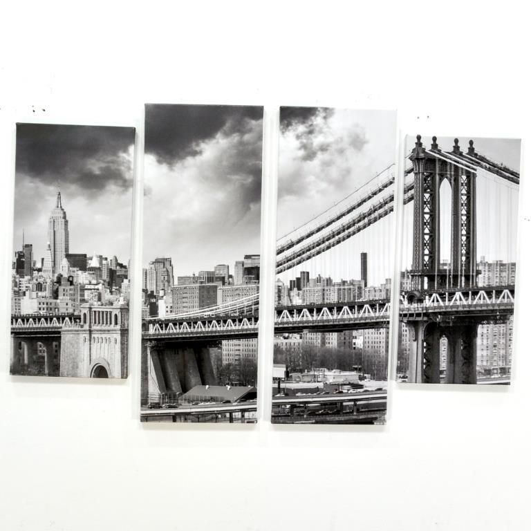 MANHATTAN BRIDGE КАРТИНА ПРИНТ НА ХОЛСТЕ №9170