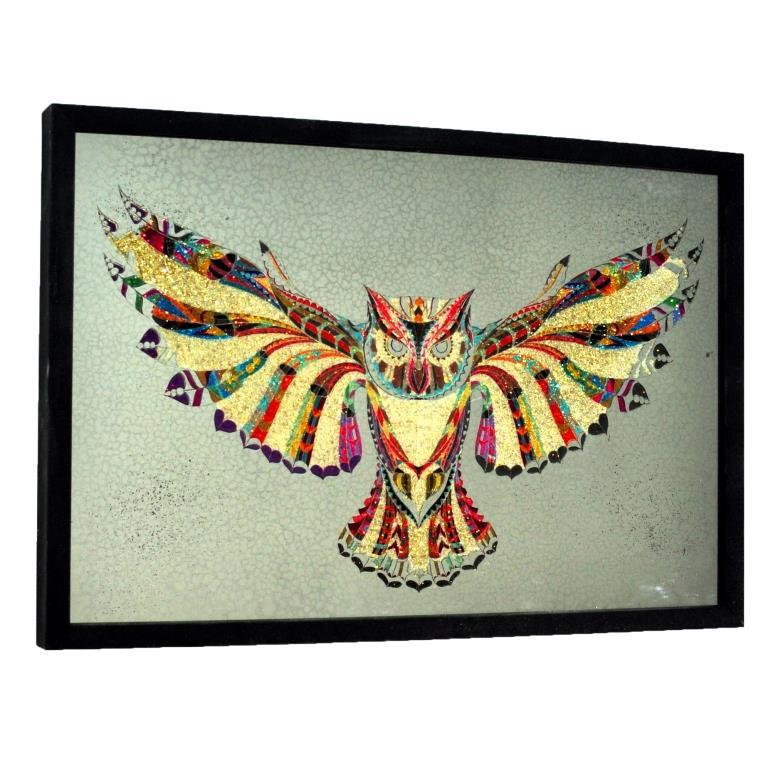 КАРТИНА С ГЛИТТЕРОМ CRYSTAL OWL №3332