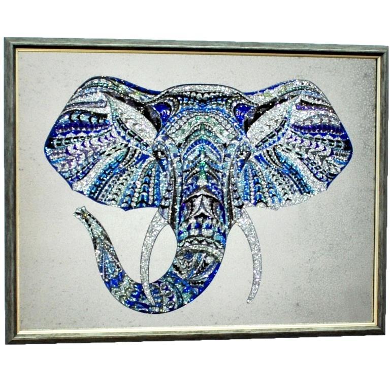 GREY ELEPHANT СЕРЫЙ СЛОН С КРИСТАЛЛАМИ №3339