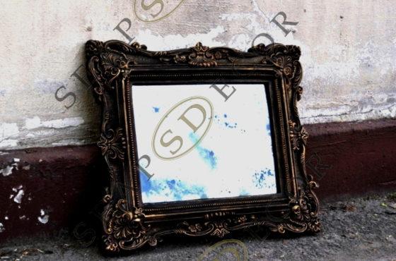 Состаренные зеркала в рамах