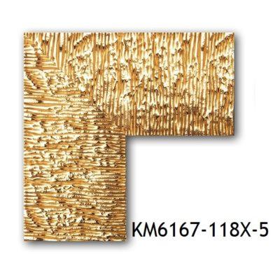 KM6167-118X-5 БАГЕТ ПЛАСТИК ШИР.7,6 СМ 2,9 М
