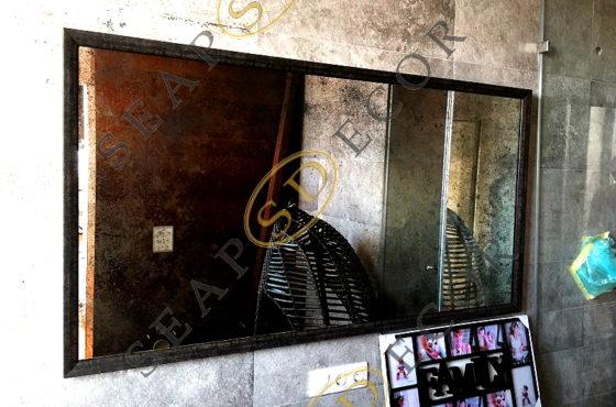 Проект лофтовой квартиры на Петрицкого ЖК «Отдыха». Состаренное зеркало