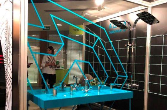 KADA by Agromat. Выставочный стенд из зеркала Граффит для выставки от SEAPS
