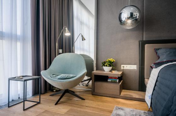 Проект квартиры #79 на Новопечерских Липках с MasterSky в выполнении SEAPS