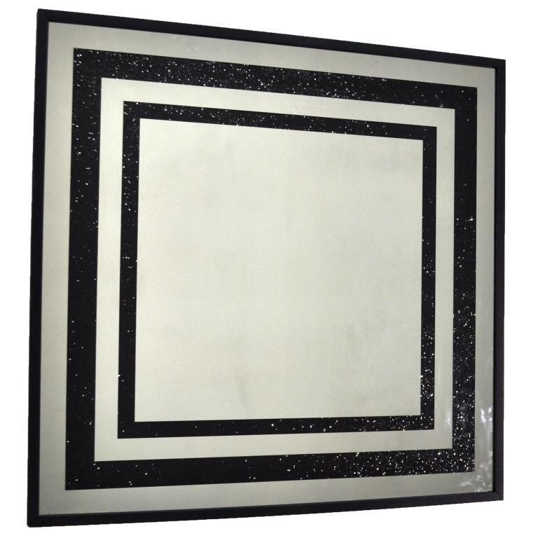 ZERROFIXX GLITTER SQUARE BLACK X10 3 SERIES №3308
