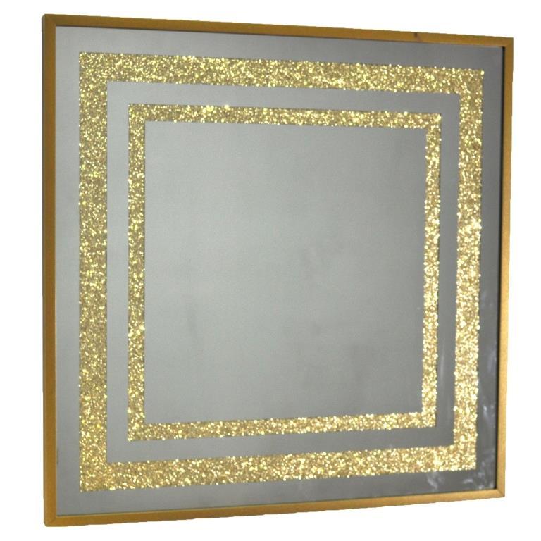 ZERROFIXX GLITTER SQUARE GOLD X10 3 SERIES №3310