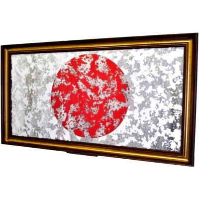 ФЛАГ ЯПОНИИ JAPAN FLAG В РАМЕ ПОД ЗЕРКАЛОМ № 4020