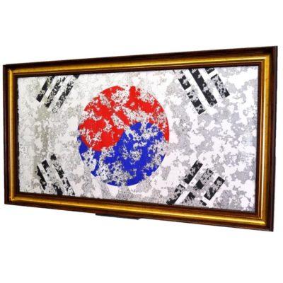 ФЛАГ ЮЖНОЙ КОРЕИ SOUTH KOREA FLAG В РАМЕ № 4019