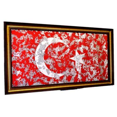 ФЛАГ ТУРЦИИ TURKISH FLAG В РАМЕ ПОД ЗЕРКАЛОМ № 4022
