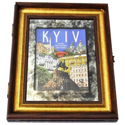 KYIV. КИЕВ. НАСТЕННАЯ КНИГА-СУВЕНИР В РАМЕ X5 №3361